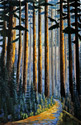A limited edition giclee fine art print on canvas of an original oil painting by Donald Flather